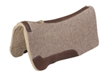 """SaddleBack"" Contour Cut Pad W/Top Grain Leather Wear Leathers, Tan Wool Felt 1"""