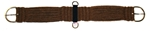 Horse Cinch Cutter 27 Strand W/SS Rig Dee Buckles, Sewn Center with SS Dees, Alpaca BROWN