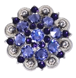 Crystal Concho Tanzanite 539F/Purple Velvet 277