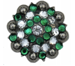 Crystal /Emerald Concho