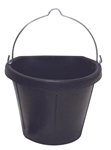 19 Qt Flat Back Rubber Bucket