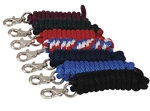 Poly Lead Rope - 5/8 in. Nickel Plated Buffalo Snap - Solid Colors
