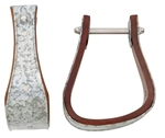 Sloped Galvanized Metal Bound Wooden Bell Stirrup 3""
