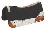 Sq. 1in. Wool Felt Saddle Back Cut Contoured w/T.G. leather w/ Hair Team Roper