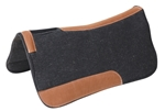 Sq. 1 in. Wool Felt SaddleBack Contoured TGL w/Hair Barrel 32 in.x32 in.