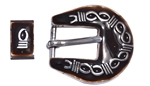 Buckle Set with Brass Barbwire Design