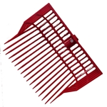 Basket Manure Fork HEAD ONLY, RED (with hardware)