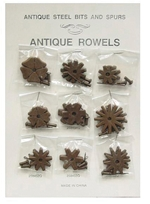 Ant Brn Rowel Card (9 pair)