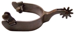 Ant Brn Spur Mens - Plain 1 in. Band 2 in. Shank