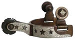 Antique Brown Toddler  Spurs Cut-Out Stars