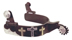 Ant Brn Spur Ladies 3 Crosses