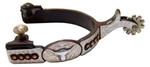 Ant Brn Spur Mens 1-3/4 in. Shank 7/8 in. Band